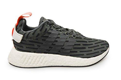 adidasAdidas Originals NMD_r2 Primeknit - Zapatilla Baja Hombre, Color Negro, Talla 40 EU