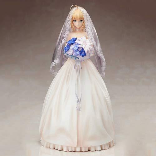 DMCMX Fate Series FGO Anime Modell Sabre Arutoria Pendoragon Brautkleid 10. Jahrestag der schönste Moment warten auf Ihre Exquisite Charakter Dekoration PVC-Material 25cm