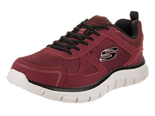 Skechers 52631 Track Scloric, Herren-Sneakers, Burgunderot/Schwarz, Rot - bordeaux - Größe: 40 EU