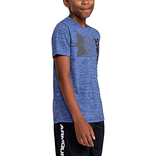 Under Armour Boys' Crossfade T-Shirt, Royal (400)/Black, Youth Medium