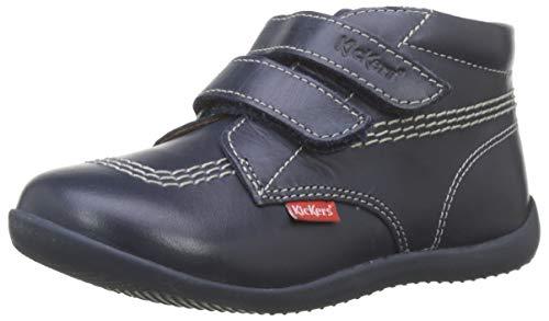 Kickers Unisex Kinder Billy VELK Stiefel, Blau (Marine Perm 10), 24 EU