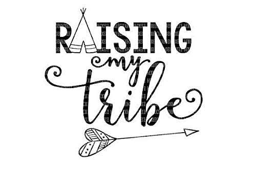Calcomanía de vinilo extraíble con diseño de mi tribe, 6 pulgadas