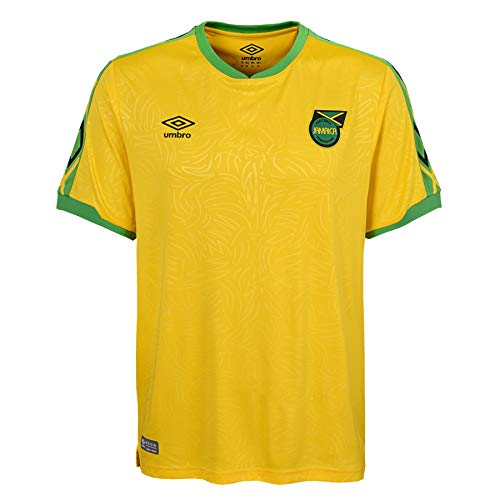 Umbro Men's Jamaica National Team Home Soccer Jersey, Yellow X-Large