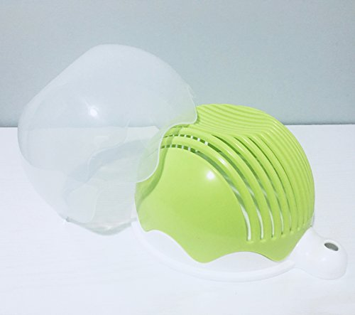 Quick Chop Salad Cutter Bowl - Fresh Salad Sliced in 60 seconds or less (Green)