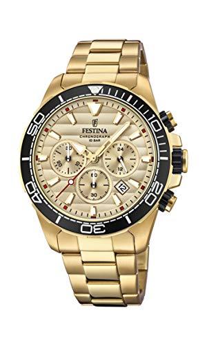Festina Herren Chronograph Quarz Uhr mit Edelstahl Armband F20364/1