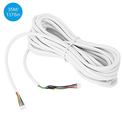 Zetiling 0.5mm2 35m koperen deurbel kabel 5 Core flexibele ronde zachte kabels, PVC geïsoleerde behuizing voor visuele deurbel