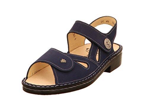 FinnComfort Damen Sandaletten Costa (blau) - Sandale mit Loser Einlage - Damenschuhe Sandale bequem/lose Einlage, Blau, Leder Finn Comfort blau 420451