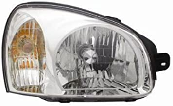 OE Replacement Hyundai Santa Fe Passenger Side Headlight Assembly Composite (Partslink Number HY2503134)