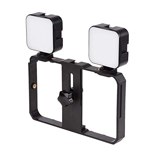 Lampada per fotocamera portatile Mini LED Video Light 5 W, lampada di riempimento per fotografia 6500 K, dimmerabile per macchina fotografica Smartphone