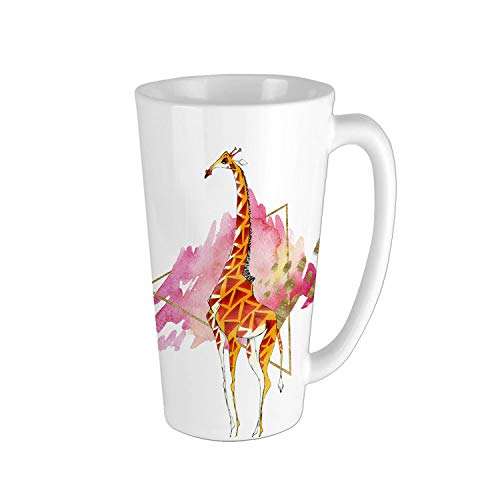 Ceramic Giraffe With Geometric Pattern Mug Personalized 16oz Large Vivid Giraffe Milk Mug Cool Mugs Cute Coffee Cups For Kids Animal Mugs Giraffe Gifts for Women Travel Cup