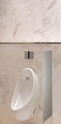 Schamwand, WC Urinal Trennwand, Bidet Trennwand Toiletten Trennwand Alu Brushed Var.A