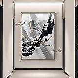 ZNYB Cuadros Decoracion Baratos 100% Pintado a Mano sin Marco Barato en Blanco y Negro Abstracto Lienzo Arte de la Pared Pintura al óleo Decorativa Obra de Arte para la decoración de la Sala de Estar