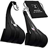 Zenooze Ab Straps for Pull-Up Bars - Heavy-Duty Ab Workout Equipment 350+ Lbs. Weight Capacity - Hanging Padded Pull Up Straps Arm Lift Set for Home & Gym Workout - Suspension Straps for Men & Women