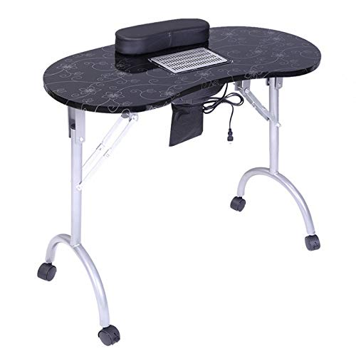 MAG.AL Portable Manicure Nail Table, with Dust Collector & Cushion & Fan Equipment Desk and Beautician Desk, for Nail Salon and Spa House,A