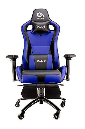 Talius Caiman Silla Gaming Profesional con reposapiés Extraible, Inclinación y Altura Regulable,...
