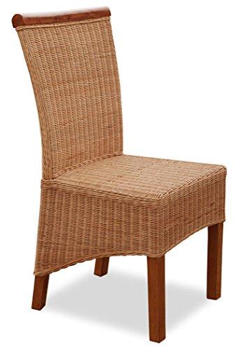 KMH®, Esszimmerstühle Larissa aus Rattangeflecht honigfarben (#205110)