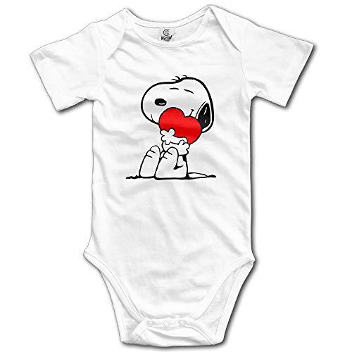 Mabell Unisex Baby Short Sleeve Peanuts Comic Snoopy Hug Love Onesies 6M