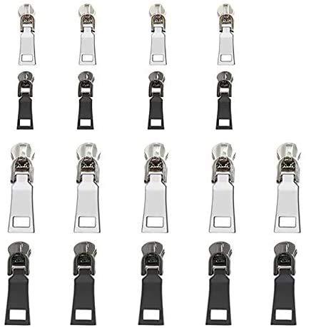 Speede Zipper Ersatz 18Pcs Reißverschluss Pull Tabs Metall Reißverschluss Reparatur Ersatzteile für Tachen Kleidung, Koffer, Rucksack,