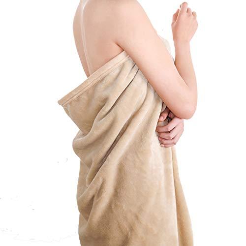 LYQZ Weich Napping Blanket Office Klimaanlage Knie Decke Single Thin Mittagspause Antistatische Decke Throw für Sofa (Color : Khaki, Size : 100×150cm)
