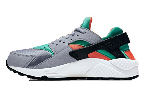 nike womens air huarache trainers 634835 sneakers shoes (uk 4 us 6.5 eu 37.5, wolf grey green glow total orange summit 011)