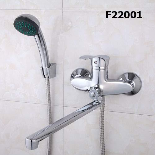 ZHAO Un insieme 30 centimetri di lunghezza presa ruotato in ottone doccia corpo da bagno rubinetto opzioni maniglia Quattro vasca da bagno rubinetto miscelatore acqua del bagno ( Color : F22001 )