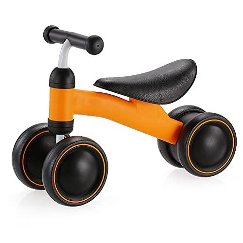 TINE Bicicleta para Niños Pequeños Bicicleta De Equilibrio De 18 Meses A 3 Años Chico Muchacha Bicicleta De Equilibrio Infantil De 4 Ruedas con Asiento Ajustable Desmontable
