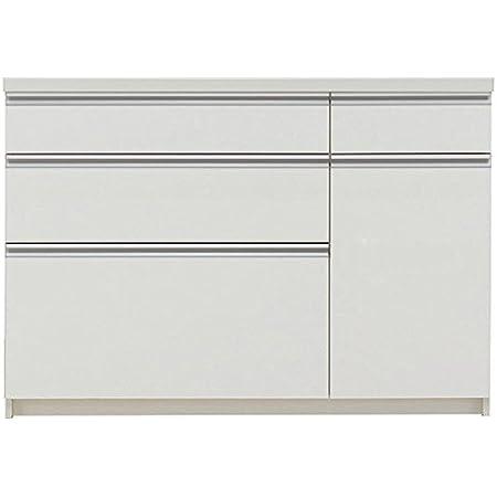 パモウナ 食器棚WL パールホワイト 幅120×高さ85×奥行45 日本製 WLA-S1200R下台