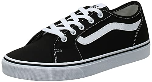 Vans Filmore Decon Suede, Scarpe da Ginnastica Donna, Nero ((Canvas) Black/True White 1wx), 40.5 EU