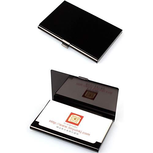 BAYUE Tarjetero Aelicy Caso Creativo del Acero Inoxidable de la Carpeta de Aluminio Cubierta de la Tarjeta de crédito de Negocios Hombres Metal Box sostenedor del Metal (Color : A)