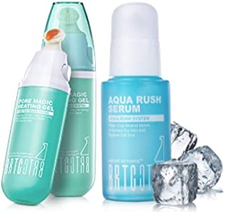 BRTC Aqua Rush Serum Bundle with Pore Magic Heating Gel, Hydrate and Tighten Skin with Natural Mineral Solutions for Visibly Clearer and Cleaner Appearance