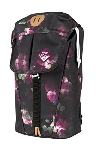 """Nitro Cypress sportiver Daypack Rucksack für Uni & Freizeit, Streetpack mit gepolstertem 15"""" Wide Laptopfach & Seesacktunnelverschluss, Überschlagdeckel, Black Rose, 28 L , 42 cmx28 cmx16 cm, 680g"""