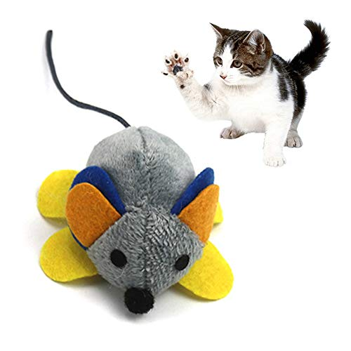 re2chiOngs Cats Toy,Cute Pet Cats Kitten Cute Mechanical Motion Mouse Rat Plush Doll Funny Playing Toy