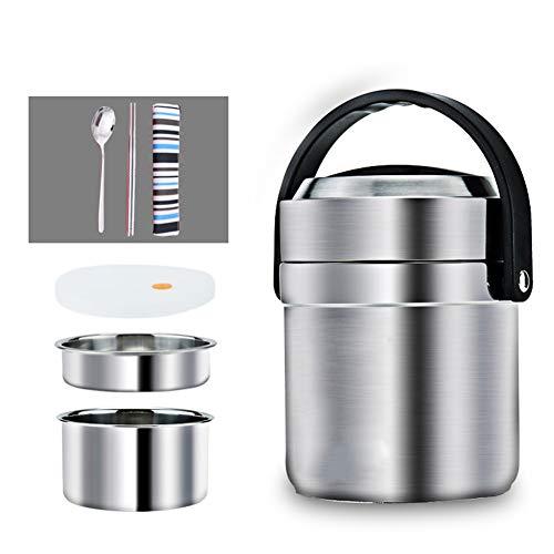Pixier Lunch box termico, sottovuoto Contenitore Termico di Acciaio Inossidabile per Caldo Cibo, Bambini, Thermos per Alimenti, | Doppio strato | A prova di perdita | in viaggio, campeggio |