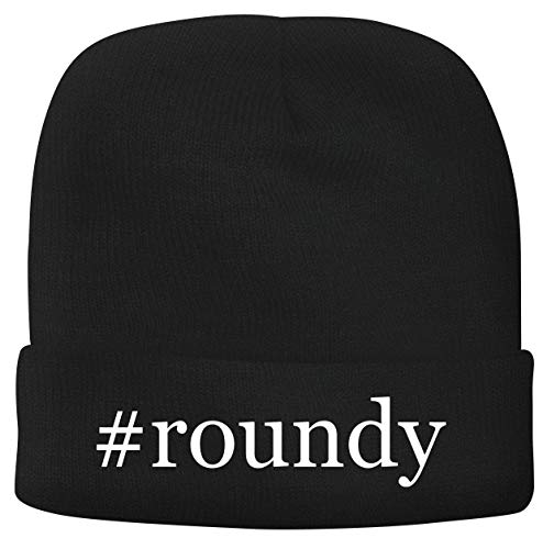 BH Cool Designs #Roundy - Men's Hashtag Soft & Comfortable Beanie Hat Cap, Black, One Size