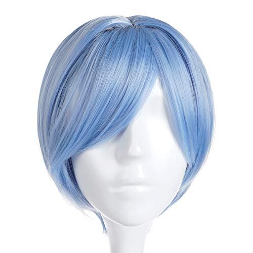 CoolChange Neon Genesis Evangelion Cosplay Perücke von Rei Ayanami, Blau, Kurzhaar