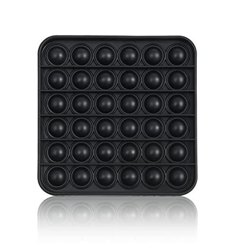 Stiftkap by Amazon - Pop It! - Quadrat - Schwarz für Männer - Push Pop Bubble Sensory Fidget Toy Spielzeug