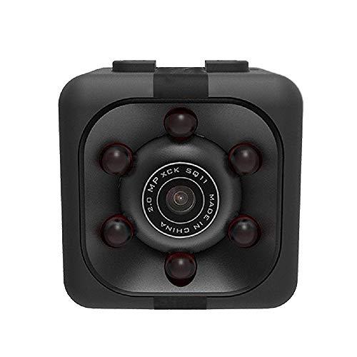SQUAREDO Mini cámara Oculta espía, 1080P cámara DVR pequeña HD para Coche, Gran Angular de 140 Grados, cámara pequeña inalámbrica con grabadora de vídeo, detección de Movimiento, visión Nocturna