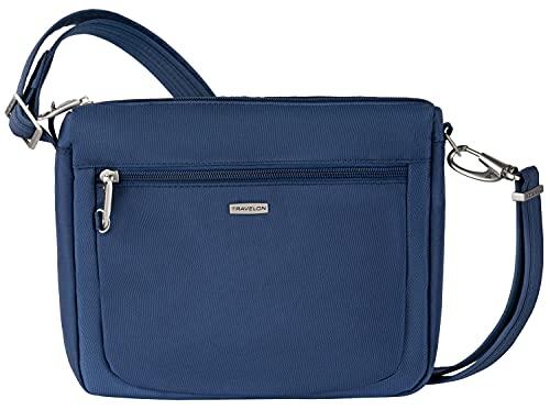 Travelon Anti-Theft Classic Small E/w Crossbody Bag (BLUE, One Size)