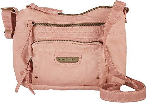 Stone Mountain Smoky Mountain Solid Hobo Handbag One Size Blush pink