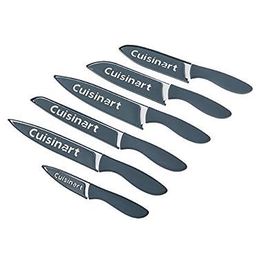 Cuisinart Ceramic Coated Knife Set, Blue/Grey (12 Piece)