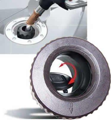 Easycap Benzin Schwarz Tankdeckel Tanken wie in der DTM und Formel 1 Bajonettverschluss