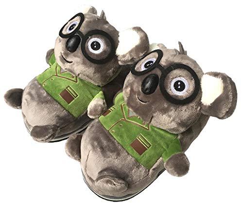 Zapatillas de Animales de Felpa cálidas de Invierno, Zapatillas de Elefante/Jirafa/Koala/hámster/Conejo, Zapatillas de casa peludas para Hombres o Mujeres (35/38 EU,Koala)