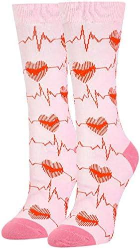 Women s Crazy Heartbeat ECG Nurse Crew Socks Novelty Nursing Gift product image