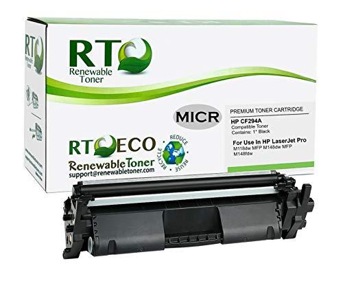 Renewable Toner Compatible MICR Toner Cartridge Replacement for HP CF294A 94A for Laserjet Pro M118 M148