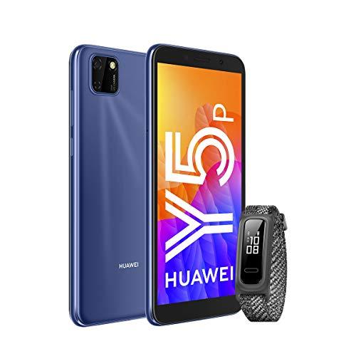 """HUAWEI Y5P - Smartphone con Pantalla de 5.45"""", 32 GB ROM, 2GB RAM, Dual SIM, Cámara de 8MP+5MP, Color Azul + Band 4e Grey"""