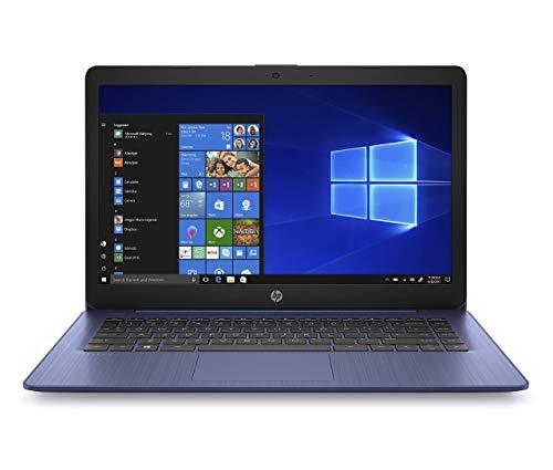 HP Stream portátil de 14 pulgadas, procesador AMD Dual-Core A4-9120E, 4 GB SDRAM, 64 GB eMMC, Windows 10 Home en modo S con Office 365 Personal por un año (14-ds0050nr, azul real) (renovado)