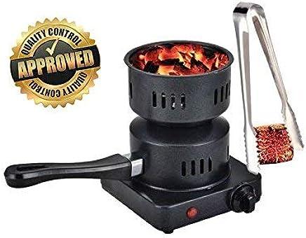 Boosey Electric Coal Charcoal Starter Burner + Free Tongs! - Hookah, Shisha, Nargila, BBQ, Fire Starter, Coal Burner