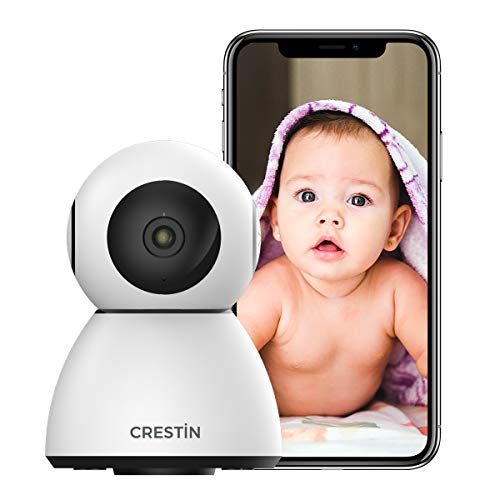 Security Camera CRESTIN IP Camera 1080P HD, Nanny Cam, Baby Camera, WiFi Home Indoor Camera, Motion Detection, 2 Way Audio Night Vision, Works with Alexa