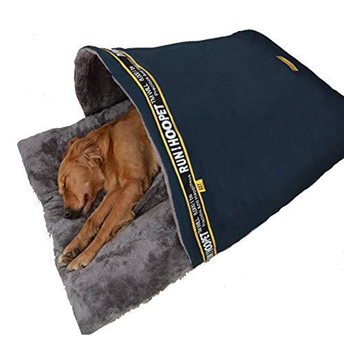 GYJ huisdier hond bed, slaap zone knuffel grot, en kat bed met deken voor warmte veiligheid aantrekkelijk, duurzaam, comfortabel, wasbaar, cover honden katten