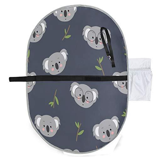 Mnsruu Koala - Materassino fasciatoio impermeabile per pannolini, pieghevole per orinatoio per casa e viaggi all'aperto